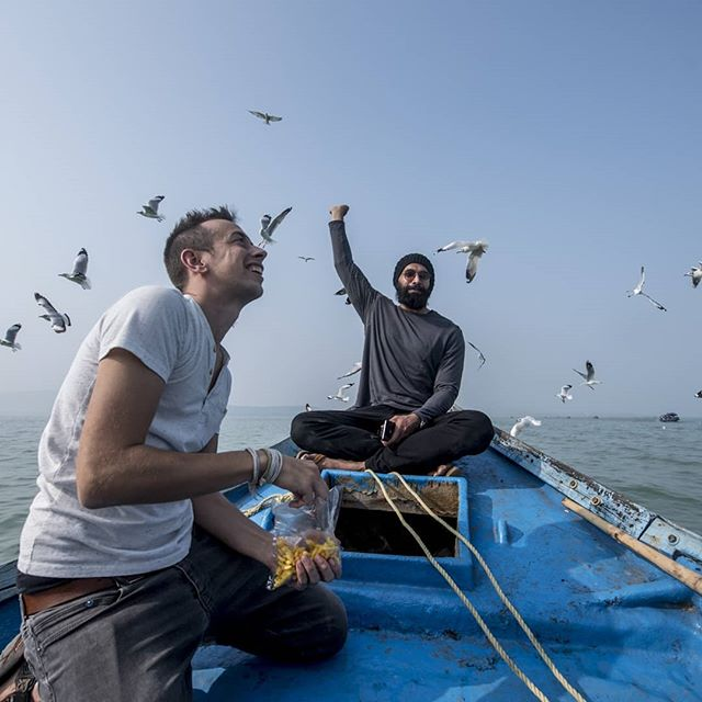 Destination 4 | Enroute Kalijai, Chilika Lake  We were surprised by a flock of very special guests on boat ride to Kalijai Temple. It was beyond surreal to watch the birds fly around our boats.  It is then that we realise that sometimes the journey is the destination 🌍🌈 . . . #rtxproject #incredibleodisha #odisha #chilika