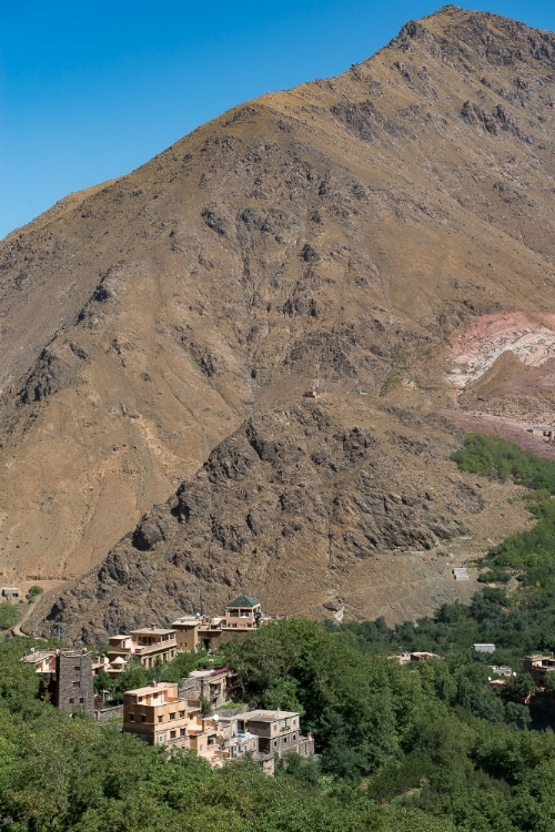 The Kasbah du Toukbal sits on a privileged slope of the Imlil Town