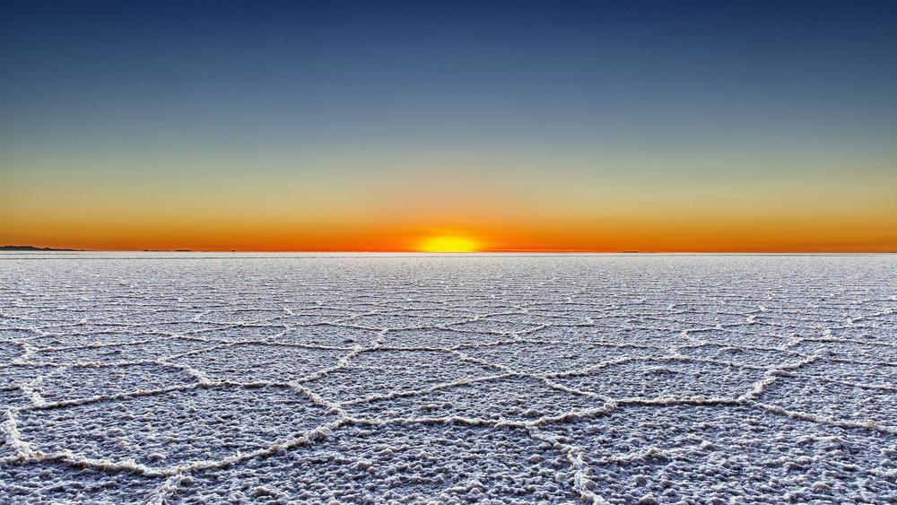 Salt flats at Uyuni