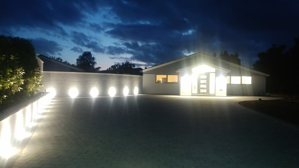 The Tobermore Sienna with driveway lighting