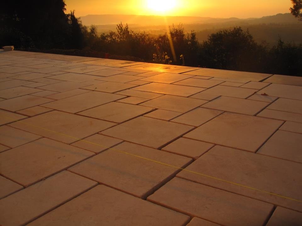 sawn sandstone paving used in this patio