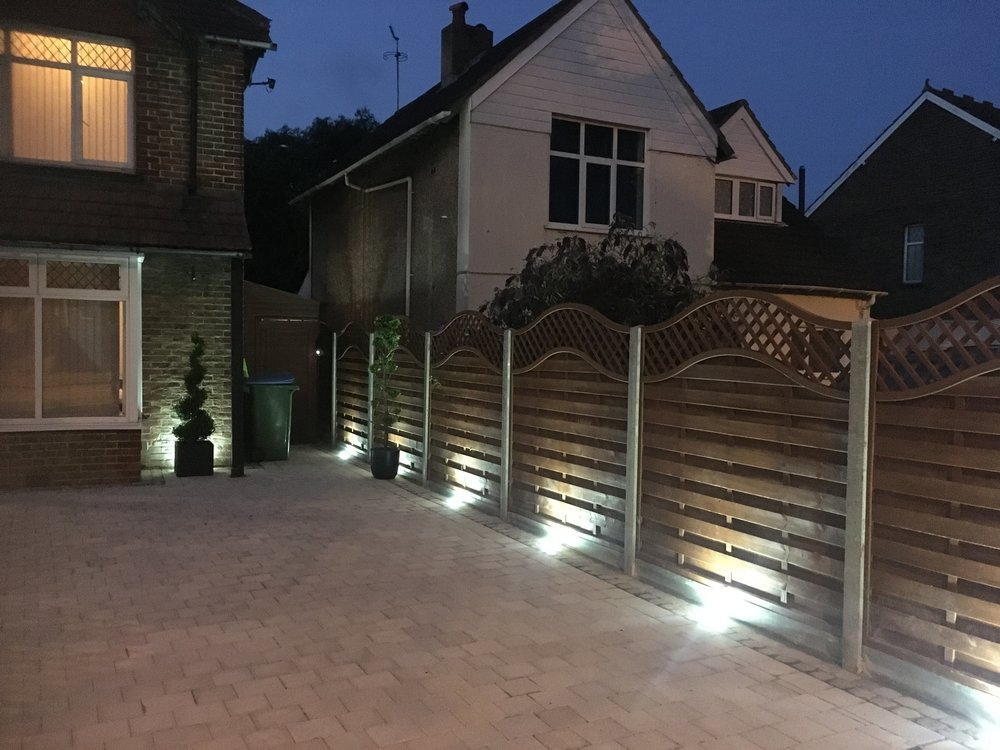 Fencing minters paving quality driveways and patios on this driveway installation at bognor regis west sussex we used the lattice top panels with concrete posts and concrete kickboards we also installed aloadofball Gallery