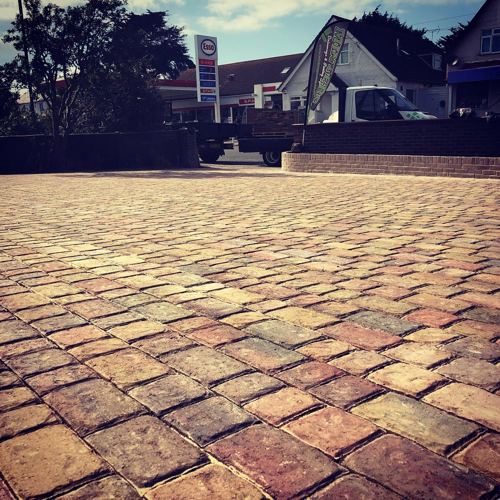 Regatta Paving in Autumn gold used on this driveway in Bognor regis West Sussex