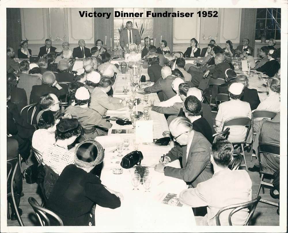 Victory Dinner fundraising for new school 1953.jpg