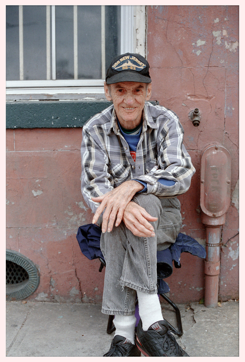 A kindly old man in New Orleans. © 2003.