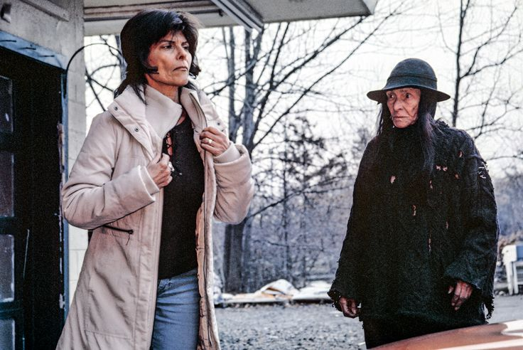 Adrienne Barbeau and Susan Willis on the set of Unholy, photographed on Ektachrome 160T film.