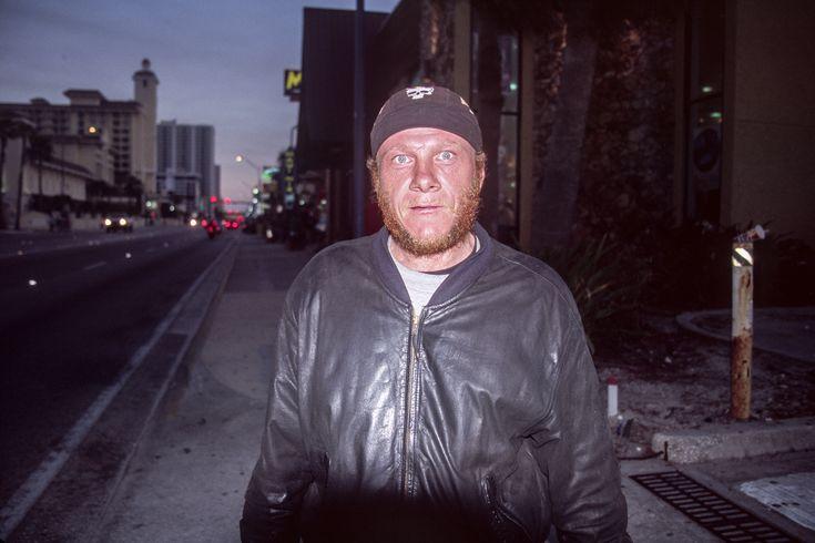 A friendly man on the streets of Daytona Beach, photographed on Fuji Astia 100F.