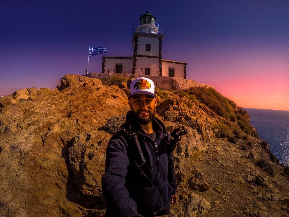 Ryan at Akrotiri Lighthouse