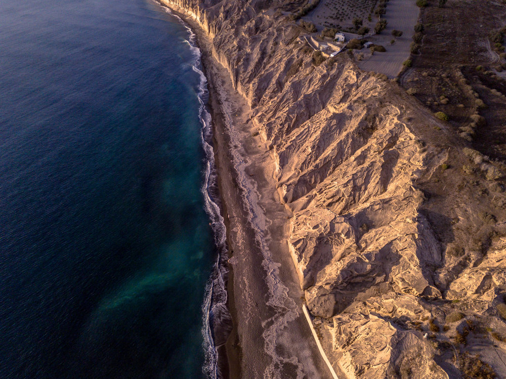Vlychada Beach by drone