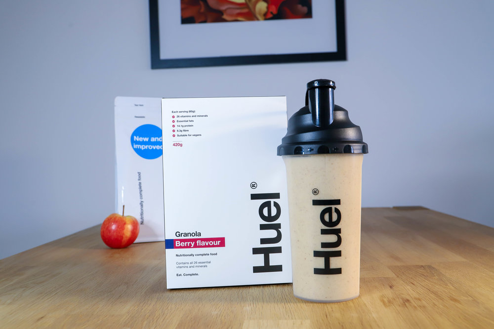 Try Huel Granola. - Add some milk for a breakfast of champions.