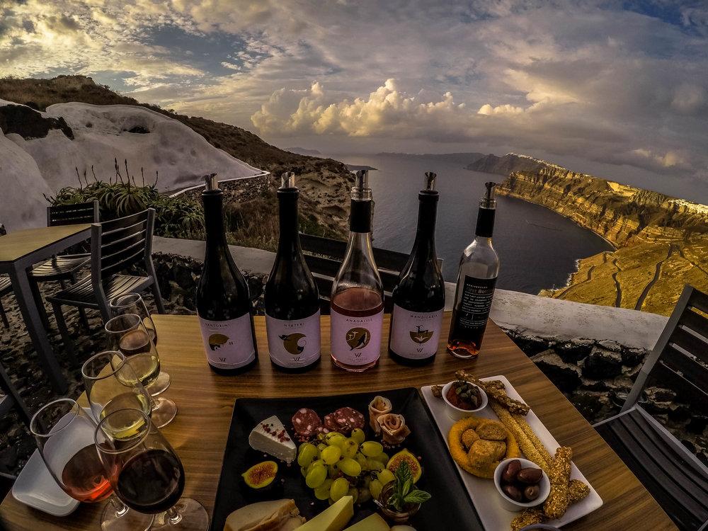 Wine tasting at Venetsanos Winery, Santorini