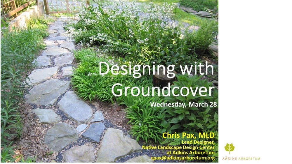 Selected slides  from talk given at Adkins Arboretum on 3/28/2018.