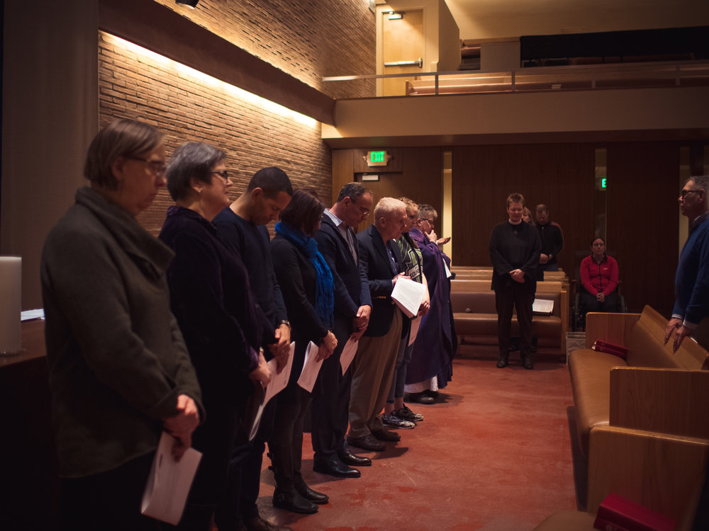 A group photo of the Church Council of Gethsemane Lutheran Church located in Seattle, WA.