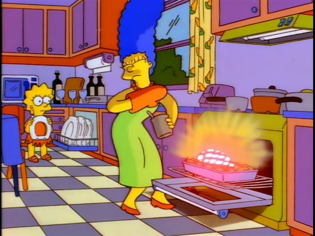 Use Marge Simpson for inspiration on this cook.