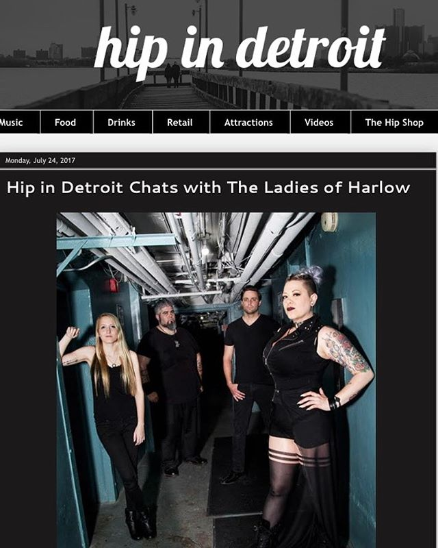 Get 'Hip with Harlow' and check out our latest interview! Thanks so much to Sadie and Christie from @hipindetroit  for chatting with us! Link is below! #ladyboss #Harlowband #supportlocal #detroit #rock #hipwithHarlow #love ---------------------- http://www.hipindetroit.com/2017/07/hip-in-detroit-chats-with-ladies-of.html?m=1