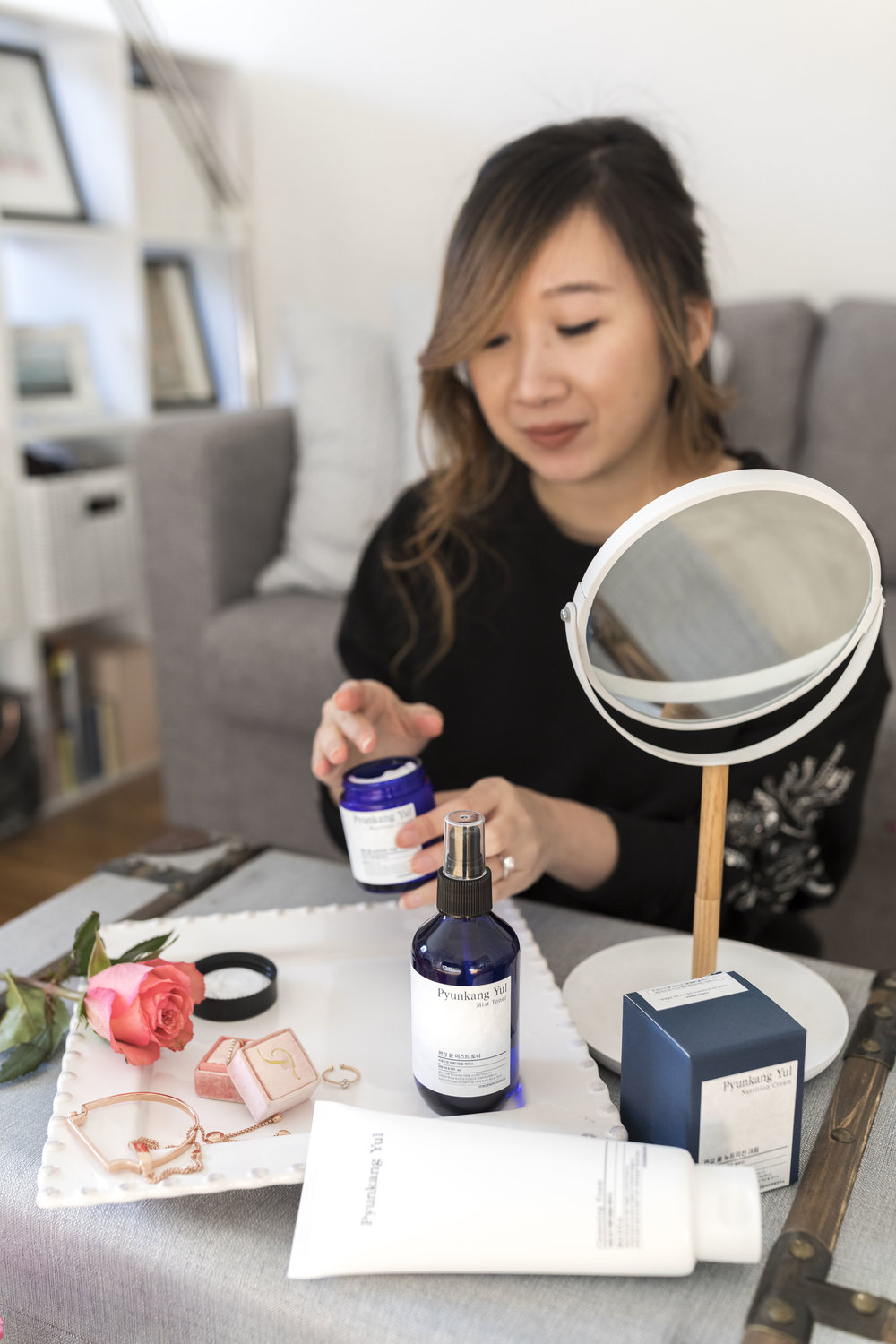 Pyunkang Yul's Nutrition Cream is a great moisturizer that soothes my dry cheeks. Photo by  Ashley Gallerani .