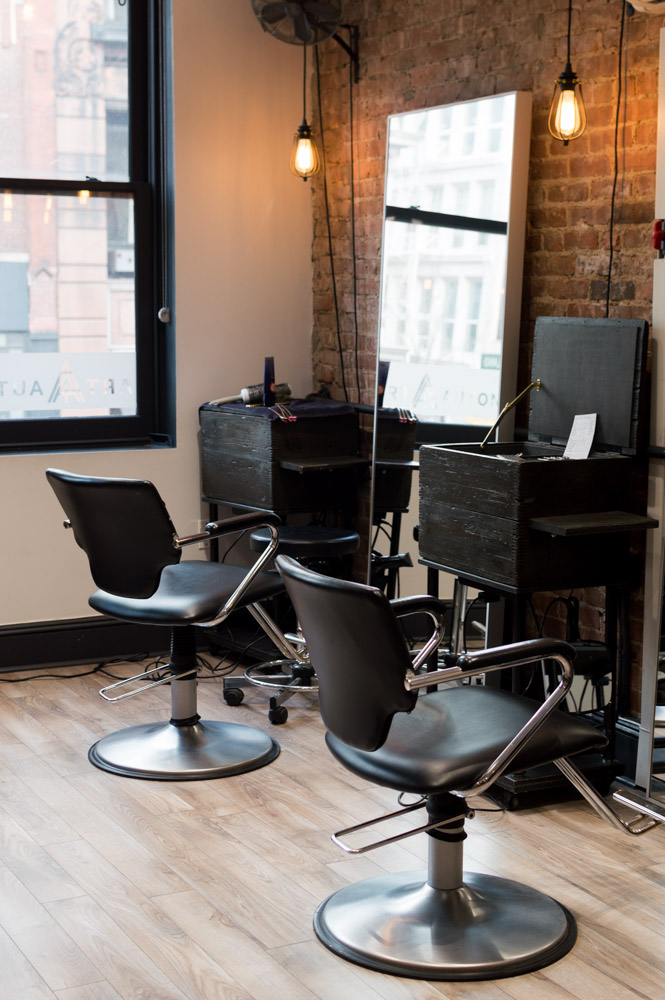 Art + Autonomy Salon is located in Soho; the interior has a very chic vibe. Photo by Tiffany Chen.