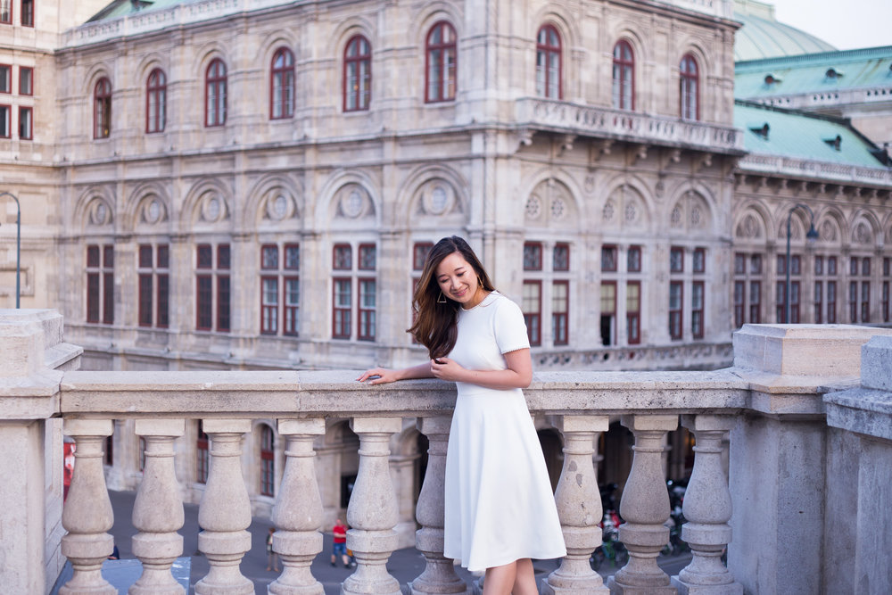 Taken at the Albertinaplatz, in front of the Opera House. Photo by  Akos Vincze .