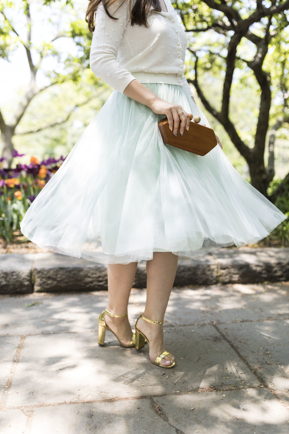 Wearing gold heels from  M.Gemi ; photo by  Ashley Gallerani .