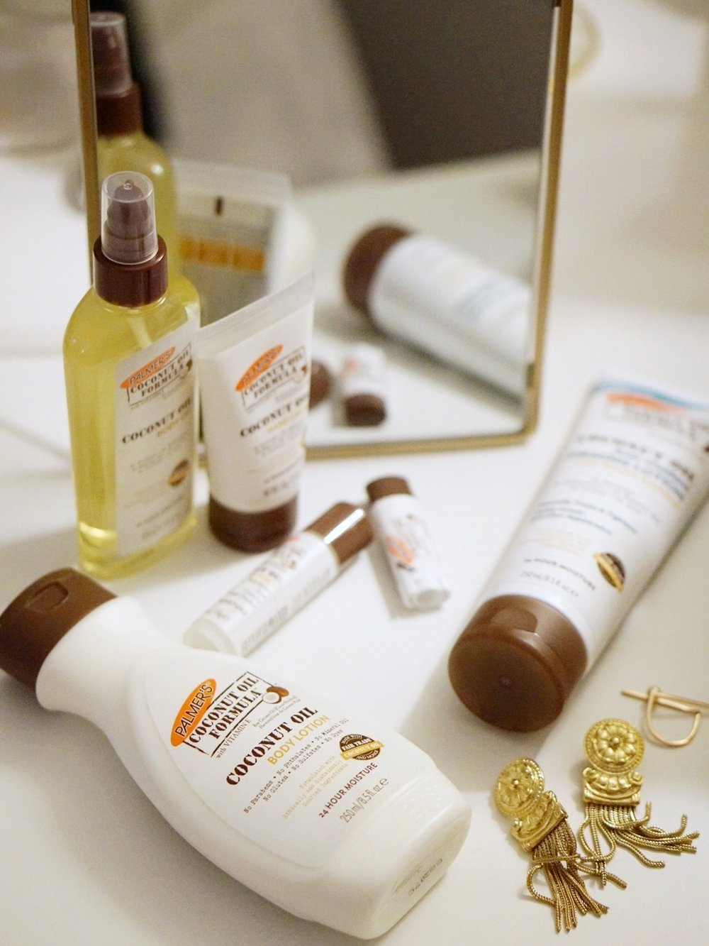 A few products from Palmer's new coconut oil line.