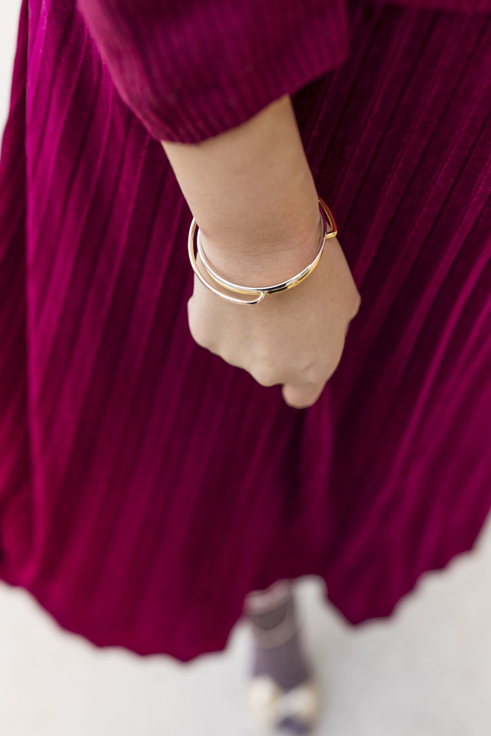 GLOD's bracelet features three tones in one. Use  TRICIA15  for 15% off your order.