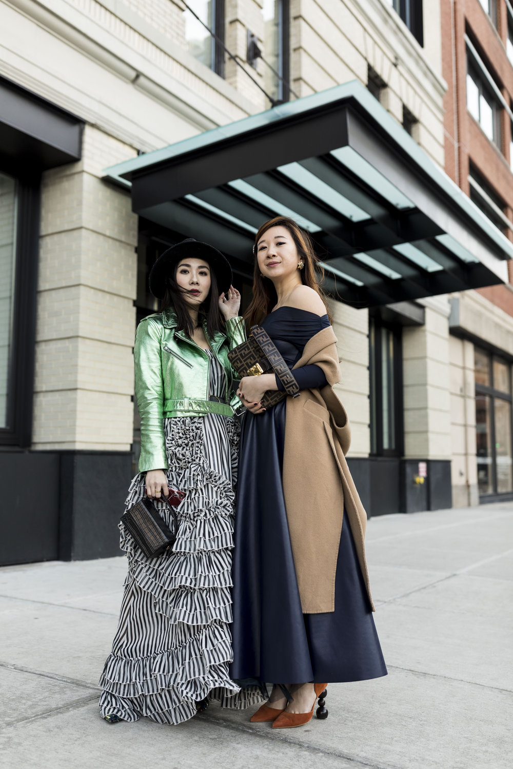With my gal pal Lisa from  @stylevoila  outside Spring Studios. Photo by Ashley Gallerani.