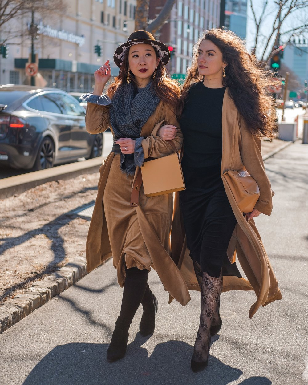 Leanne Ansar from  @leanneansar  and I on our way to the Donna Zhong runway show at Pier 59 Studios. Photo by  Travis Chambers .