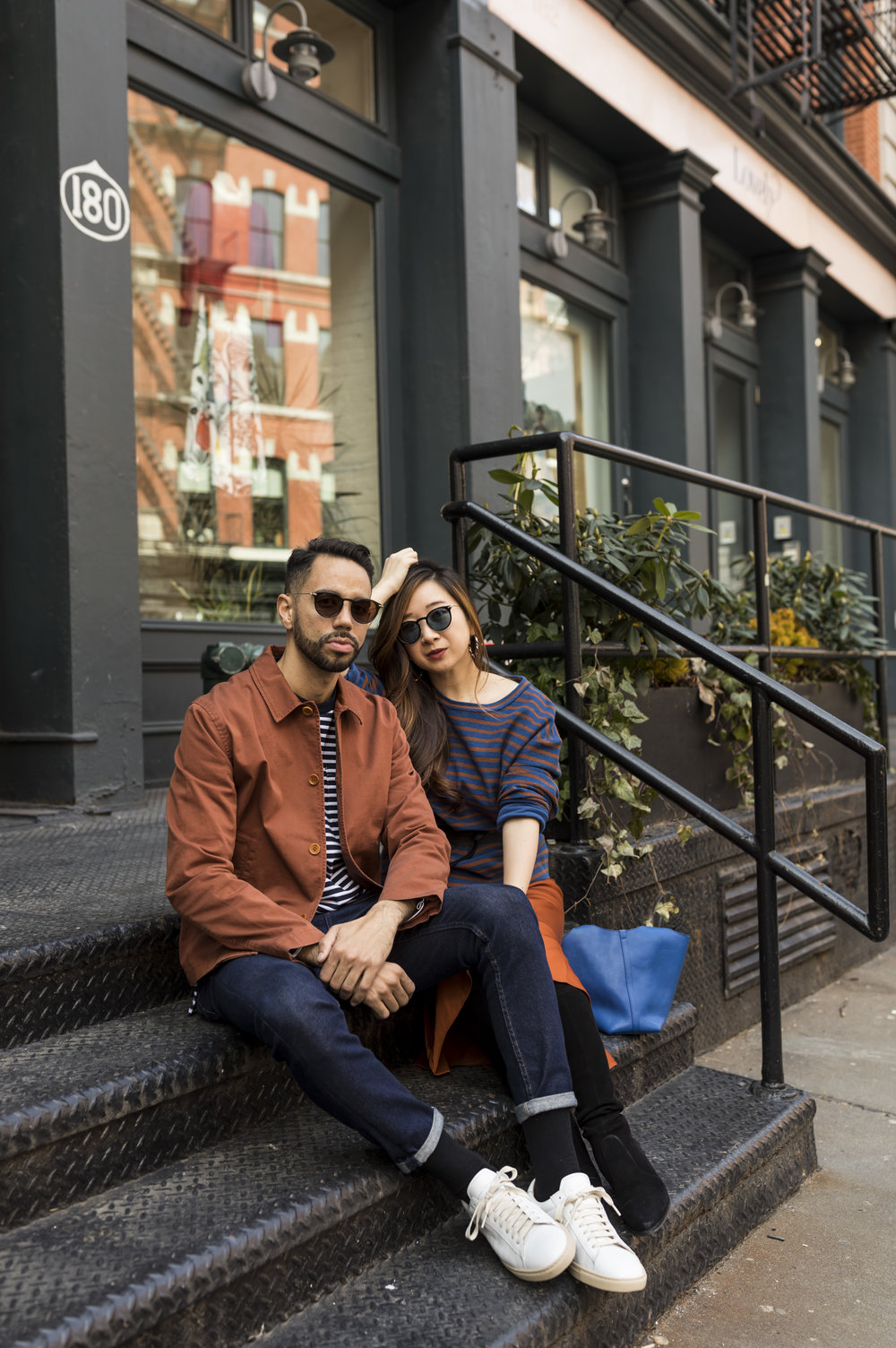 Victor and I outside 180 The Store. Photos by Ashley Gallerani.