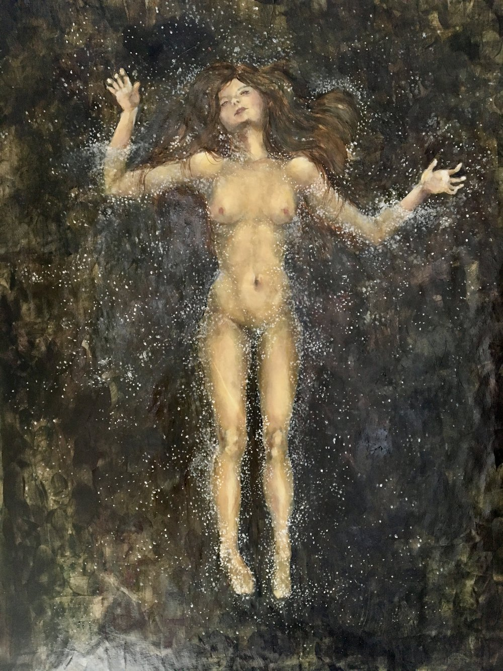 Ophelia, Oil on Paper, 2016