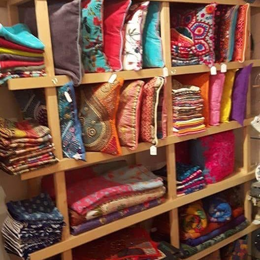 Number 36 is having a half price home furnishing sale . We have a variety of cushion covers bedspreads and wall hangings/embroideries #penzance#WDYT#Homeware#colourful#silk#cottons