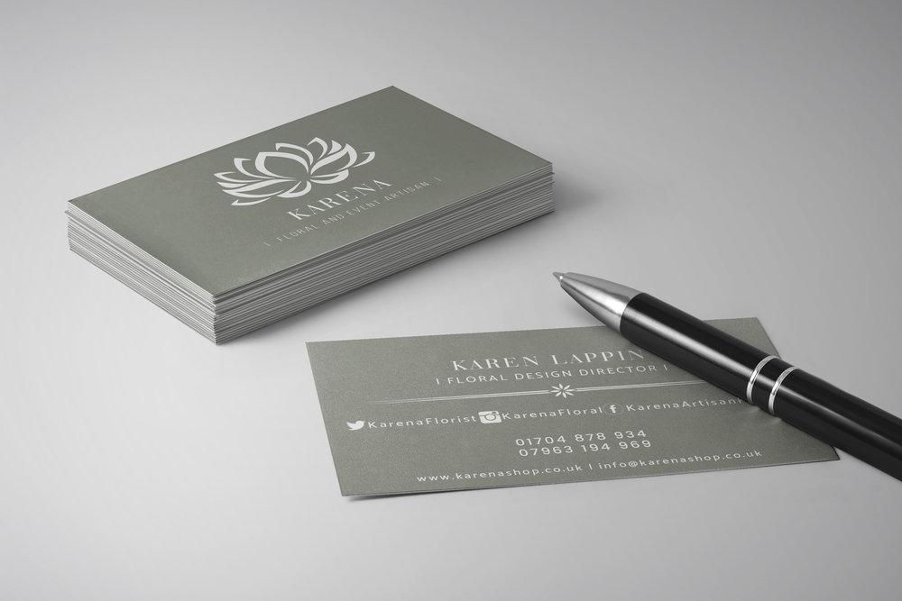 Karena Floral Business Cards
