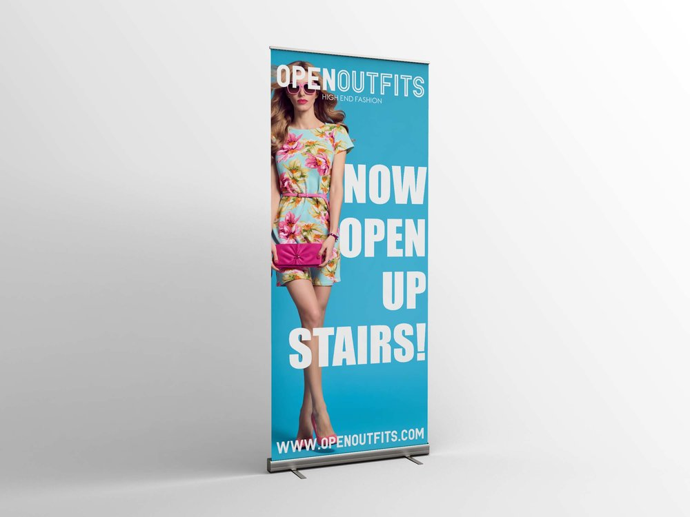Open Outfits Roller Banner