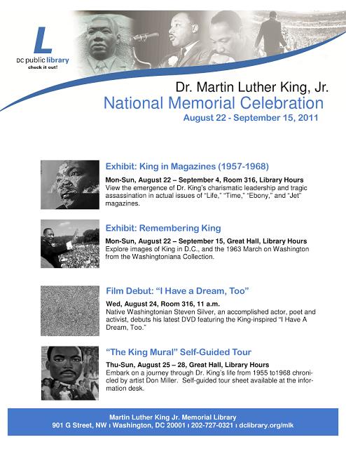 Aug 22 - Sept 15: Dr  Martin Luther King, Jr  National