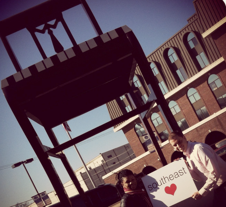David and I taking our very first #SoutheastLove photo on Valentine's Day 2012.