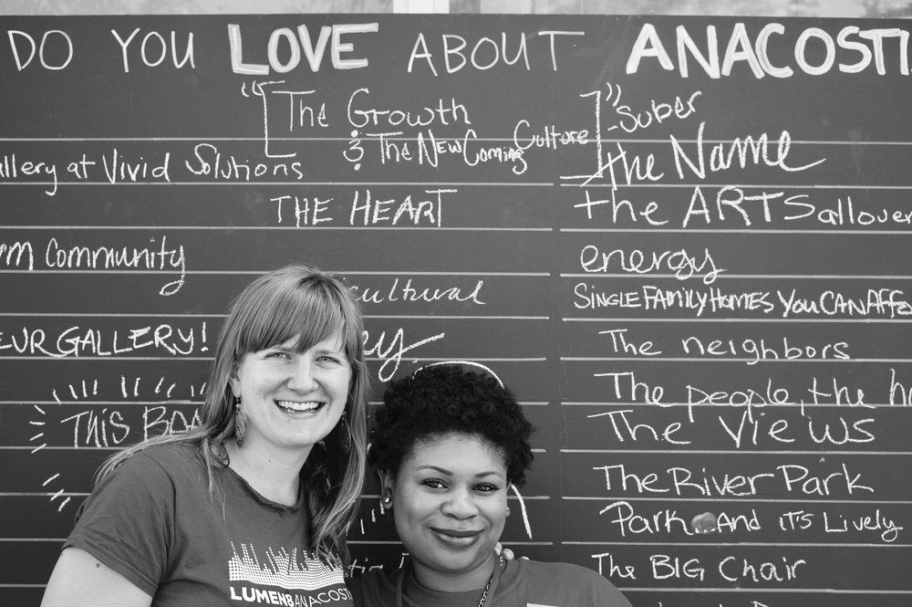 The Advoc8te in 2012 working the very first LUMEN8ANACOSTIA with my ARCH colleague (and bestie!) Beth.My best personal & professional experiences came from my time in Anacostia.