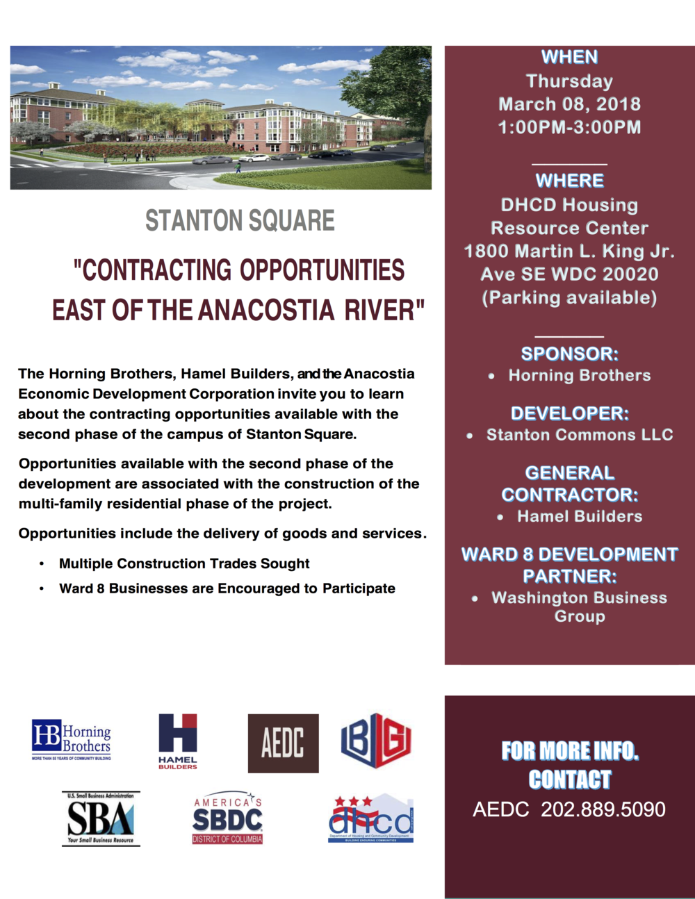 FINAL Flyer  - Conracting Opportunities East of the Anacostia River.png