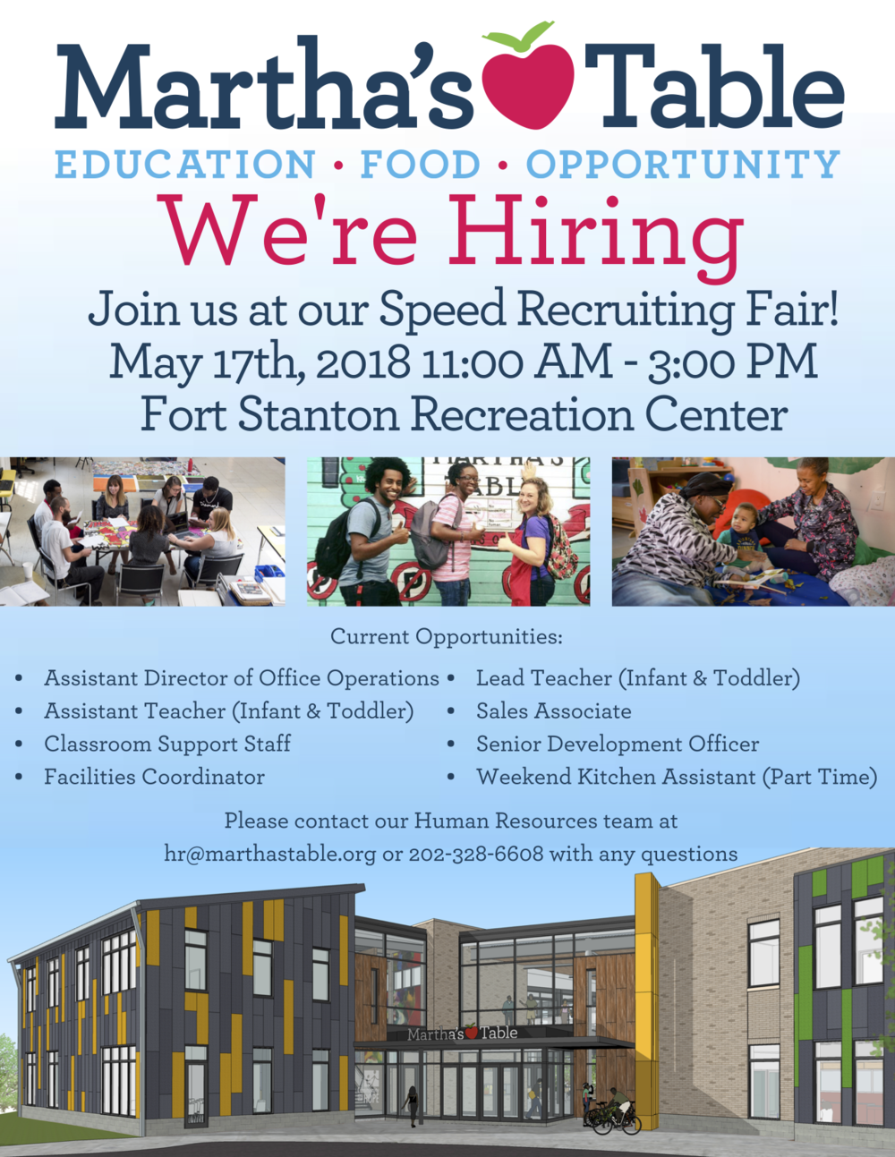 May 17   Martha\'s Table Speed Recruitment Fair @ Fort Stanton ...