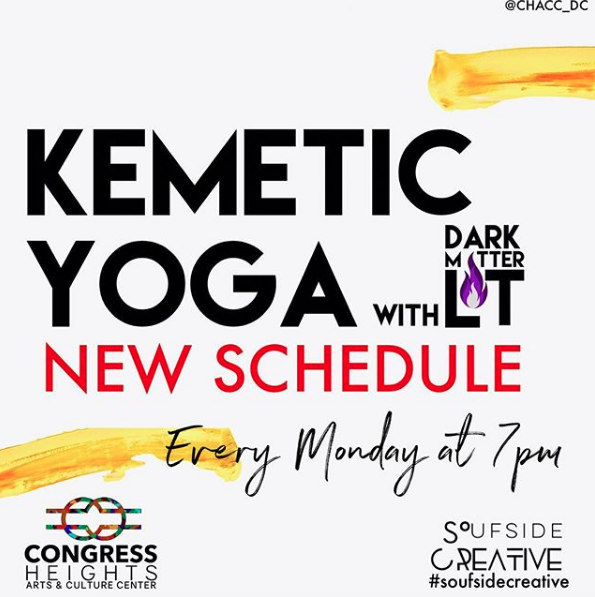 New Schedule! Every Monday at 7pm Kemetic Yoga @ CHACC
