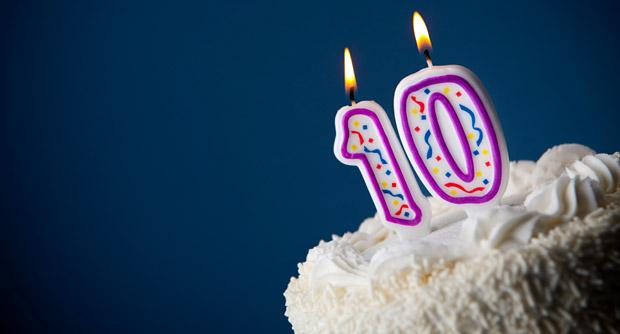 Birthday Cake 10 Year Anniversary 216027