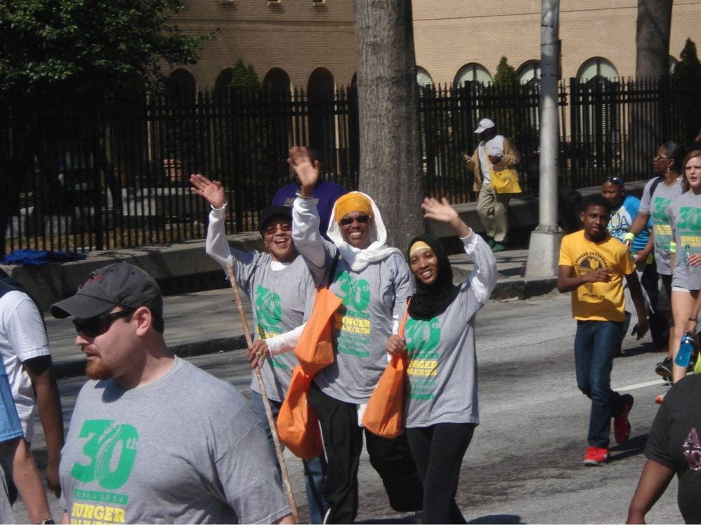 Atlanta food bank community Hunger walk -