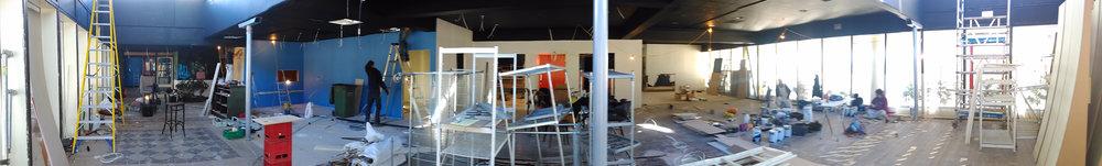 Panoramic of work in progress