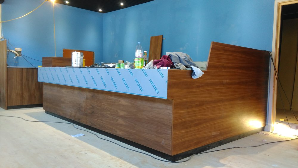 Café being installed