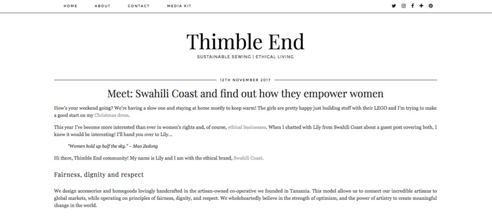 Thimble End