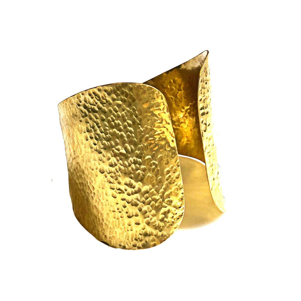 Brass Hammered Cuff | $40