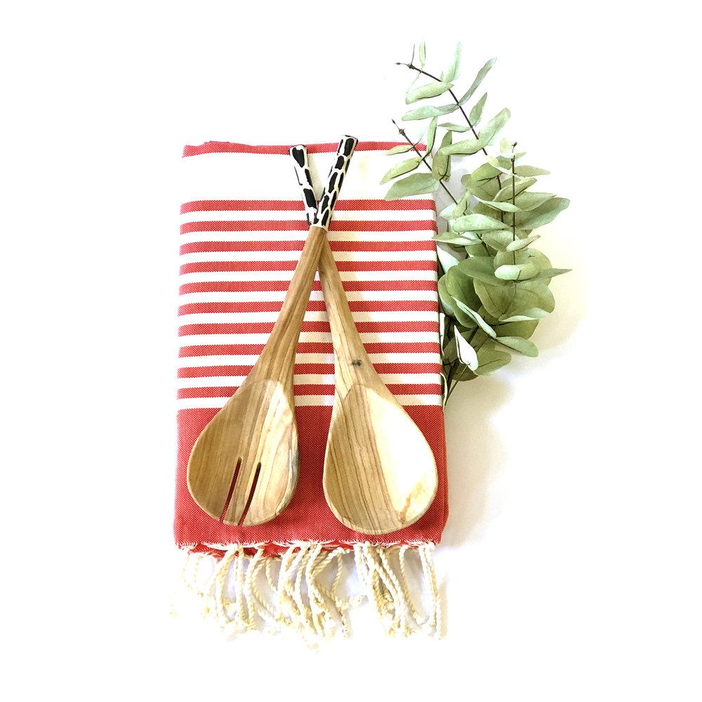 African Rosewood + Bone Spoons | $22