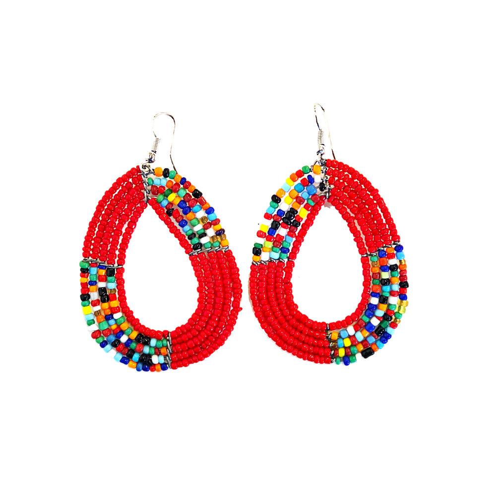 Maasai Hoops - Red | $24