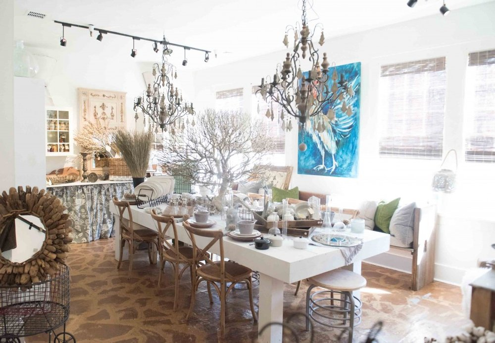 One of the featured spaces within the Brown Dog Market (BDM) at Cohen's Retreat. Each space with BDM is filled with local designer and artisan items and retail products. Photo by Kelli Boyd Photography   Lavin Label.