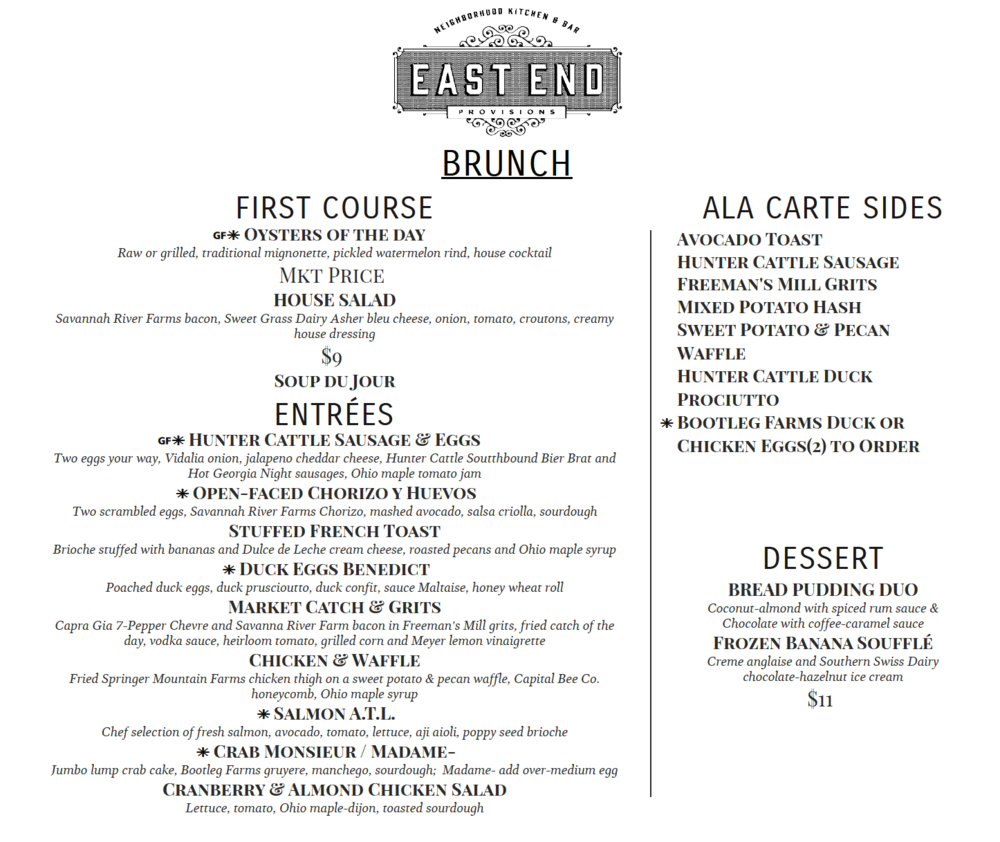 East End Provisions launches new brunch menu.