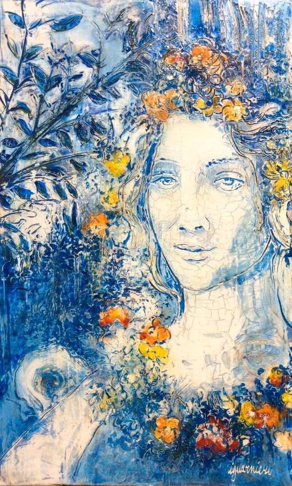 Signature Iguarnieri fresco painting.
