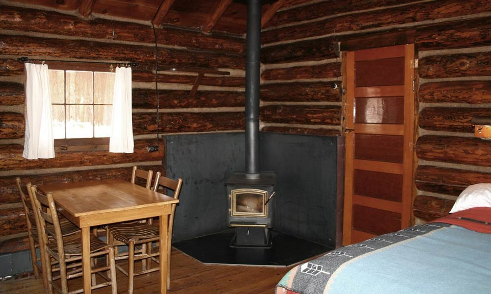 ...with the wood stove, to keep temperatures toasty.
